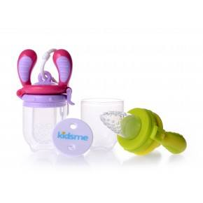 Kidsme Food Feeder Startpaket - Rosa/Lime
