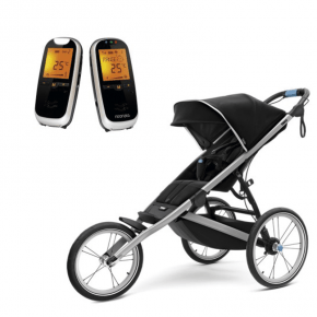 Thule Glide 2 Sittvagn Svart + Neonate 6500 Babyvakt
