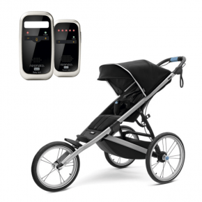 Thule Glide 2 Sittvagn Svart + Neonate 4600 Babyvakt