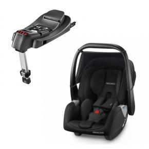 Recaro Privia Evo Bilstol + Base til Privia RECAROfix - Svart