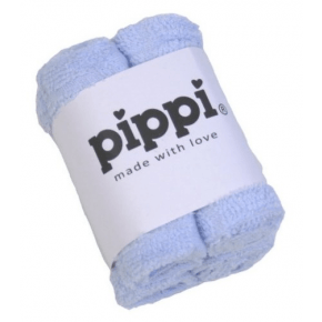 Pippi Tvättlappar 4-pack - Light Blue