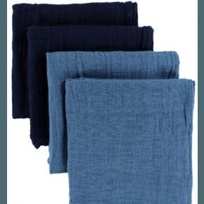 Pippi Muslinfilt 4-pack - Blue