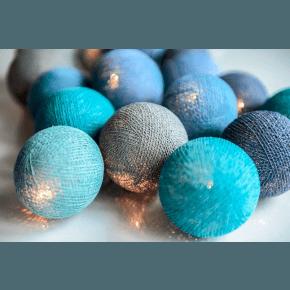 Irislights Ocean Blue Ljusslinga 20 Bollar