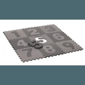 heybasic Lekmatta Golvpussel Siffror 30x30 cm - Grå/Ljusgrå