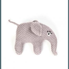 Smallstuff Skallra Stickad Elefant - Rosa