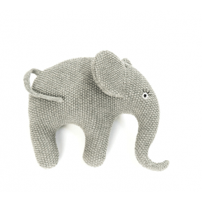 Smallstuff Gosedjur Stickad Elefant - Grå