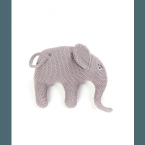 Smallstuff Gosedjur Stickad Elefant - Rosa/Lila