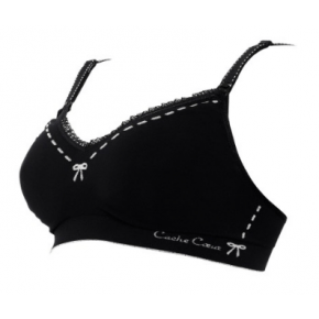 Cache Coeur Lingerie Illusion Amningsbh Str. XL - Svart