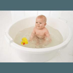 Baby Dan 90L Balja med Propp - Vit