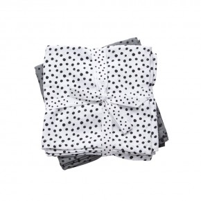 Done By Deer Swaddle 2-pack Happy Dots Grå