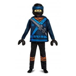 LEGO NINJAGO Kostym, Str; 4-6 år - JAY MOVIE DELUXE
