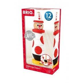 BRIO Stapeclown - Röd & Vit - 30230