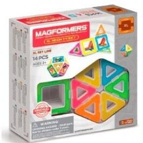 Magformers XL Neon 14 Konstruktion Set - Multi