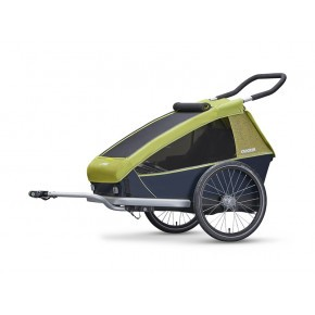 CROOZER Kid for 2 2019 3-i-1 cykeltrailer - Lemon green