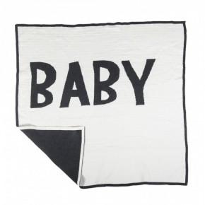 Sebra Stickad Babyfilt