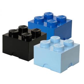 Lego Brick 4 Förvaringslådor - Blå