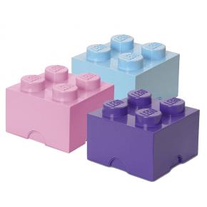 Lego Brick 4 Förvaringslådor - Lilla
