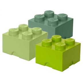 Lego Brick 4 Förvaringslådor - Grön