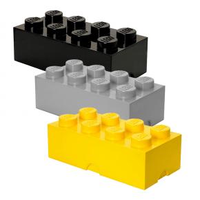 Lego Brick 8 Förvaringslådor - Gul/Grå/Svart