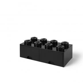 LEGO Förvaring 8 med 2 Lådor - Svart