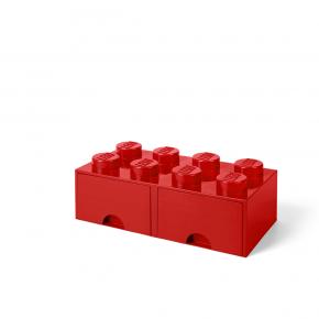 LEGO Förvaring 8 med 2 Lådor - Röd