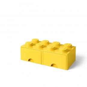LEGO Förvaring 8 med 2 Lådor - Gul