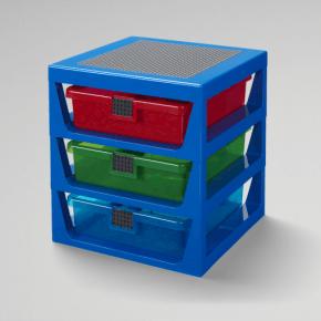 LEGO Förvaring med 3 lådor - Blå