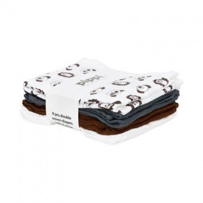 Pippi Muslinfilt 8-pack - Brown