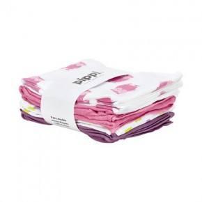 Pippi Muslinfilt 8-pack - Dark Pink