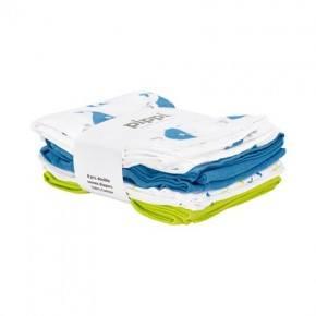 Pippi Muslinfilt 8-pack - Parsian Blue