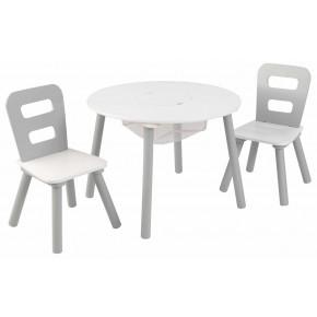 Kidkraft Bord och Stolar - Vit/Grå