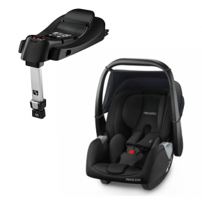 Recaro Privia Evo Bilstol + SmartClick Base - Svart