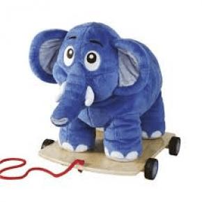 Krea Bodil Elefant Stor - Blå