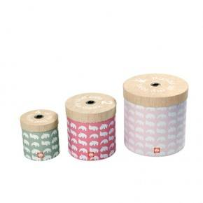 Done By Deer Round Box Set Förvaringslådor 3-pack- Rosa
