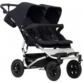 Mountain Buggy Double Duet V3 Tvillingvagn - Svart