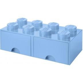 LEGO Förvaring 8 med 2 Lådor - Mörkblå