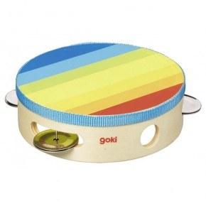 Goki Tamburin - Regnbågsfärgad