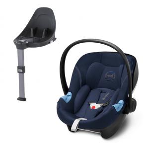 Cybex Aton M i-size Babyskydd + Base M i-size - Denim Blå