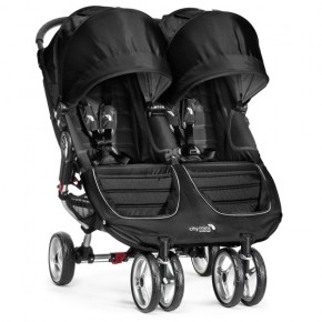 Baby Jogger City Mini Double - Svart/Grå