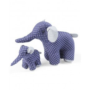 Smallstuff Mjukisdjur Elefant Stor - Blå