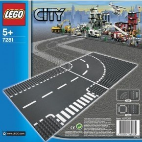 LEGO City (7281) T-korsning och Kurva
