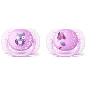 Philips Avent Ultra Soft Napp 2 Pack - Lila
