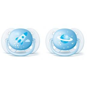 Philips Avent Ultra Soft Napp 2 Pack - Blå