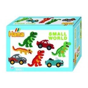 Hama Midi Pärlor Och Pärlplattor Bil och Dinosaurie - Multifärgade