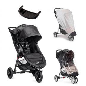 Baby Jogger City Mini GT Sittvagn, Regnskydd, Insektsnät & Brickbord