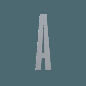 Design Letters Trä Bokstav A - Grå