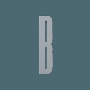 Design Letters Trä Bokstav B - Grå