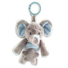 My Teddy Min Första Elefant Mobil - Grå & blå