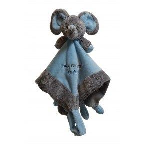 My Teddy My First Elefant Snuttefilt - Blå