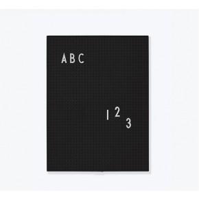 Design Letters A4 Bokstavstavla - Svart